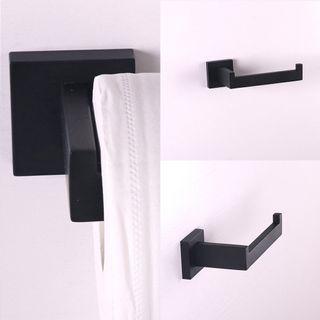 🚚 Black Toilet Roll Holder x2