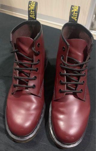 Dr Martens Boots UK8 Cherry Red Docmarts