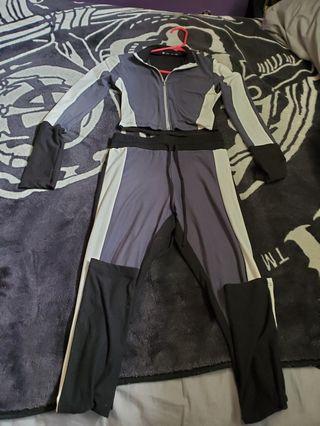 brand new fashion nova active legging set