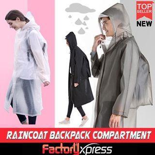 Raincoat Unisex Backpack raincoat / Travel raincoat/ motorbike raincoat/