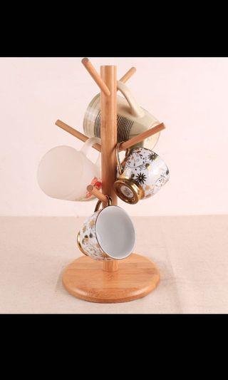BN cup & mug stand / holder, tree branch design, wood
