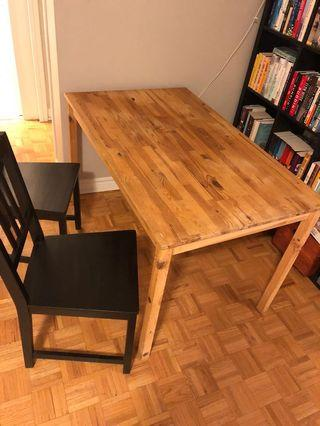 Ikea Ingo Pine wooden kitchen dining table