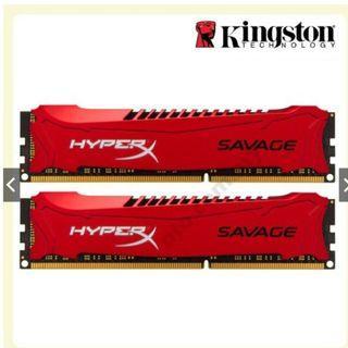 RAM DDR3 4GB x 2 HyperX Savage 1600Mhz
