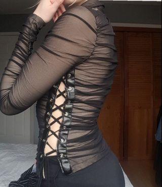 Vintage parasuco corset top