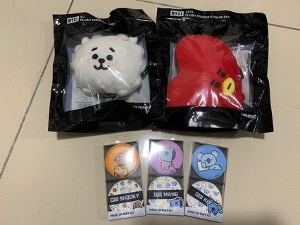 Bt21 face cushion and mirror and comb set