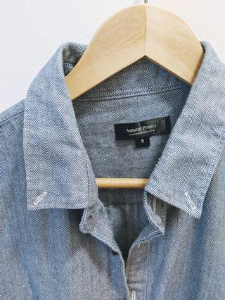 Natural Project Shirt - Denim Blue (Size 5)