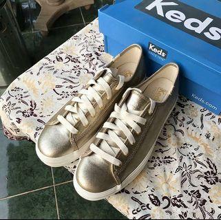 #maudandan KEDS Triple Metallic Gold