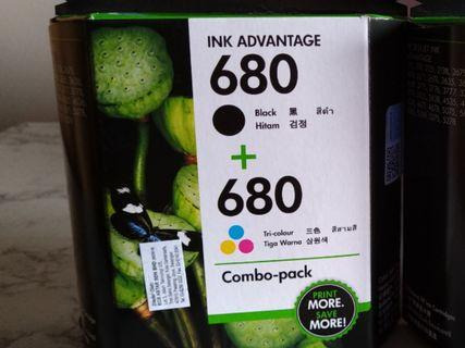Hp Printer Ink 680 Black + Colour New