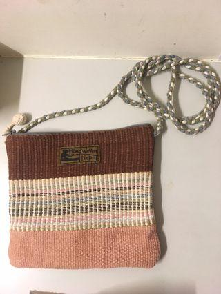 🚚 客訂 尼泊爾編織斜背小包