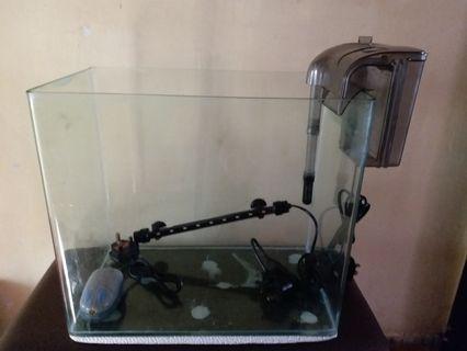 魚缸一套 過濾器 氣泵 潛水燈 Aquarium Fish tank Filter Air pump LED Lamp