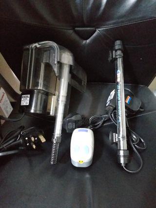 過濾器 氣泵 潛水燈 Aquarium Filter Air pump LED Lamp