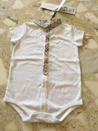 BNWT baby Burberry 24 months romper short sleeve