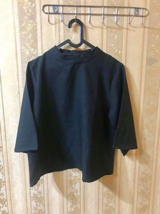 bigsize black highneck