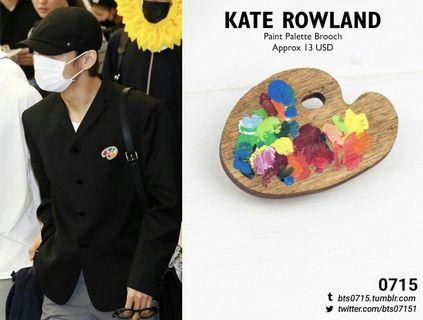 BTS PALETTE BROOCH by Kate Rowland