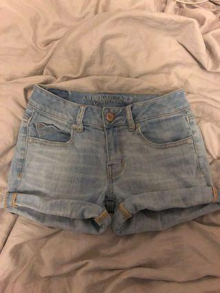 American Eagle AE Light Wash Denim Jean Short