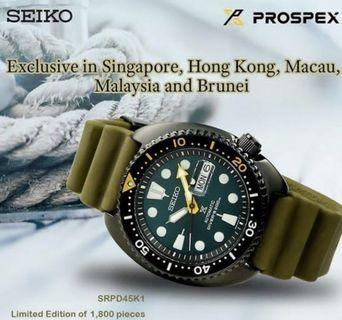 🚚 Seiko Turtle  SRPD45K1 limited edition!