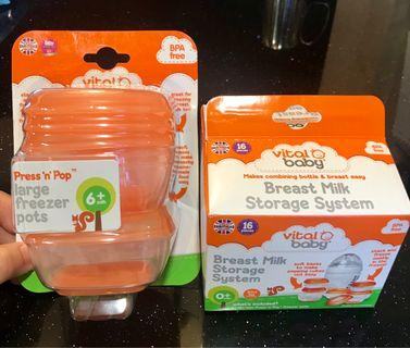 🚚 vitalbaby🇬🇧英國進口🇬🇧可微波冷凍副食品儲存/儲乳盒 BPA free 共20小盒