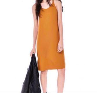 🚚 TEM Rusila Midi Cross Strap Dress in Marigold
