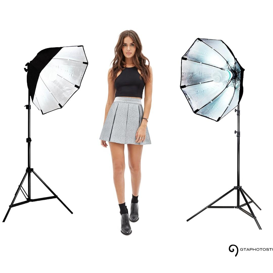 1000w Photo Video Continuous Softbox Lighting Kit / BRAND NEW / GTAPhotoStudio . com