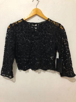 Zara Women Brokat Croptop