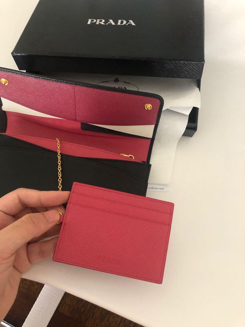 100% authentic Prada wallet