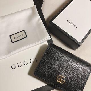 Gucci荔枝皮短夾 微風購入 全配