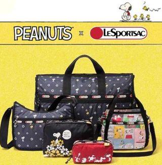 Lesportsac Snoopy Daisy  LARGE Weekender (Travel Bag)