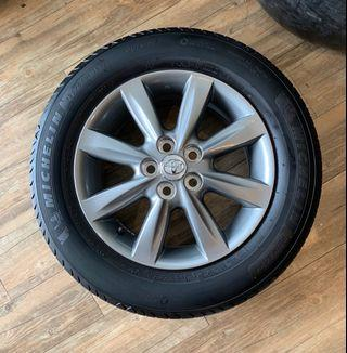 """Toyota Wish 15"""" Rims with Michelin Primacy4 Tires"""