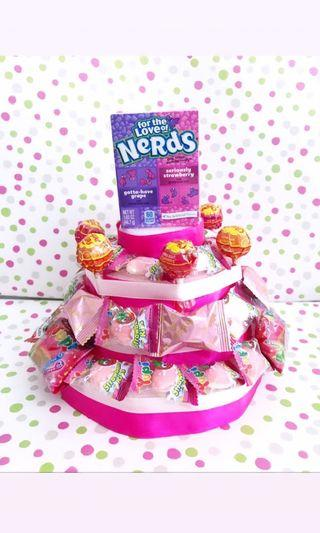 Pink Candy Cake Birthday Gift