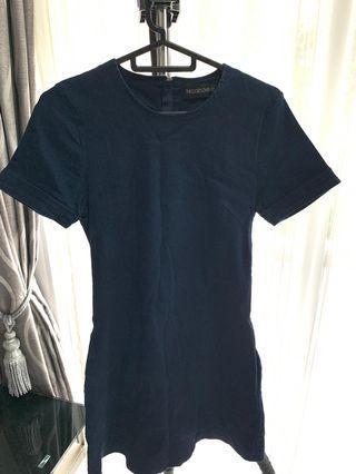 Theclosetlover Navy Blue Dress denim