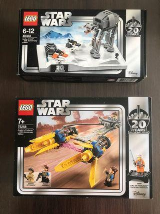 💯% 🆕 Lego 樂高 STAR WARS 20 Years  20周年紀念 共2盒