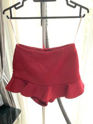 Theclosetlover Red Skorts