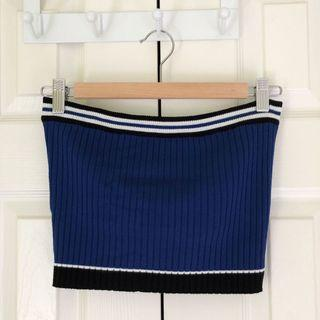 Forever 21 blue ribbed tube top