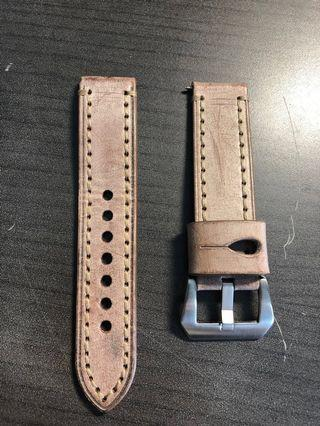 Gorgeous 22mm Red Leather Strap