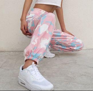 Pink camo joggers