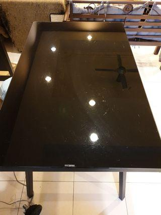 Rectangle Table With Tempered Glass