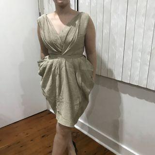 Women's gold party formal dress size 10