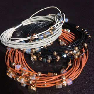 Multi Strand & Stones Bracelet