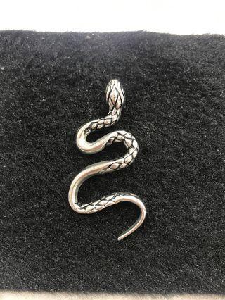 Stainless steel snake Pendant 不锈钢吊坠 蛇