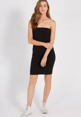 supre black boobtube bodycon dress