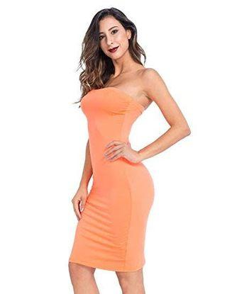 supre peach boobtube bodycon dress