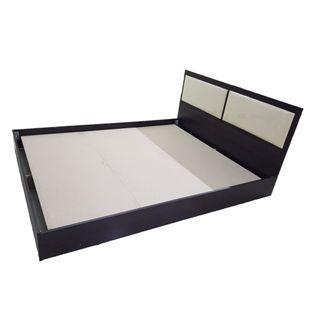 5'Modern Bed c/w Cushion headboard
