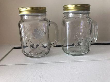 二手 有蓋玻璃杯兩隻500ML