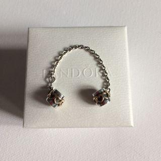 Pandora Two-Tone Heart Safety Chain (Retired)