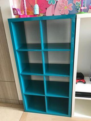Ikea blue shelves