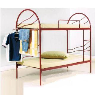 Double Decker Metal Bed with Cloth Hanger