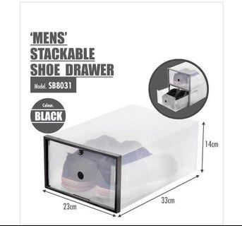 6 pieces of Houze Stackable Shoe Boxes