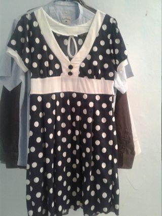 Dress polka navy
