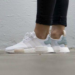 NMD R1 White Tactile Green