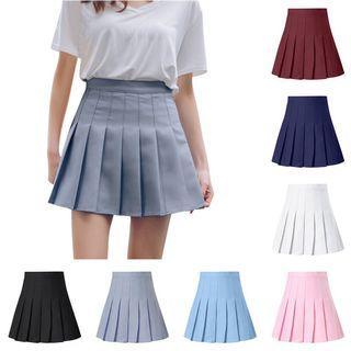 [po] high waisted pleated tennis skirt